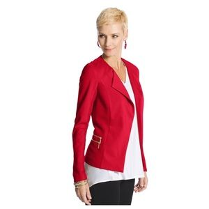 Chico's Red Modern Ponte Pieced Jacket Blazer NWT